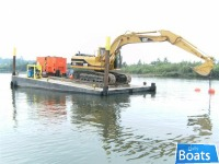 Custom Built 40' x 20' x 4' Sectional Spud Barge