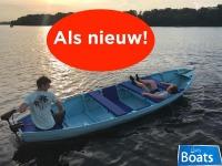 Grachtenboot Nieuwstaat + KUSSENSET + DEKZEIL