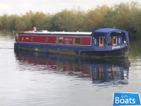 Wide Beam Narrowboat60 x 12 by Elton Moss