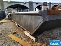 50 x 20 x 3 Steel Spud Barge