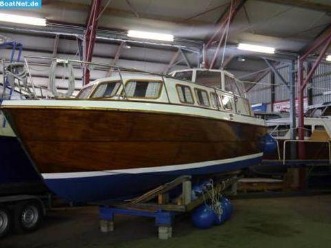 Eigenbau Motoryacht-Yacht Mahagoni Liebhaberstück