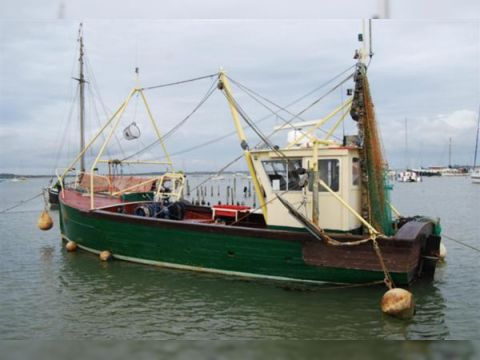 Classic 36ft traditional fishing boat for sale daily for Fishing boat cost