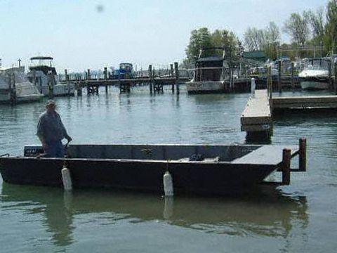 Steel Flat Bottom Open Push Boat