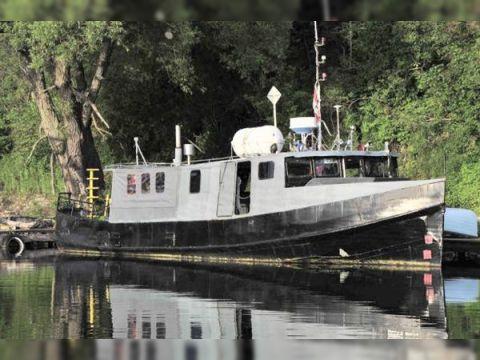 1960's 11.70m x 3.94m x .94m Steel Dive/Work Boat Dive Boat