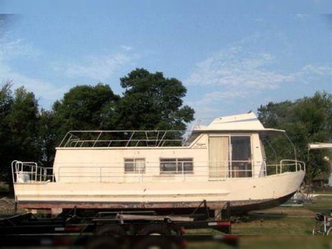 1973 38' x 12' x 3' Steel/Fiberglass Georgian Houseboat 1973 38' Steel/Fiberglass Georgian Houseboat
