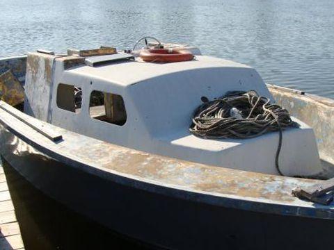 Fiberglass Work Boat Heavily Built Ex Navy LCVP Work Boat