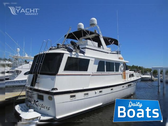 Hatteras 58 Custom Motor Yacht W Gyros For Sale Daily Boats Buy Review Price Photos Details