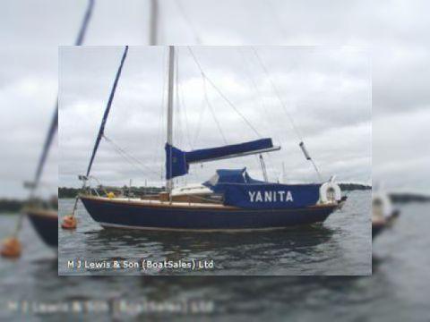 Bermudan Sloop,Fred Parker 25ft wooden Bermudan S